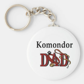 Komondor DAD Gifts Basic Round Button Keychain