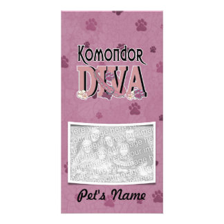 Komondor DIVA Personalized Photo Card