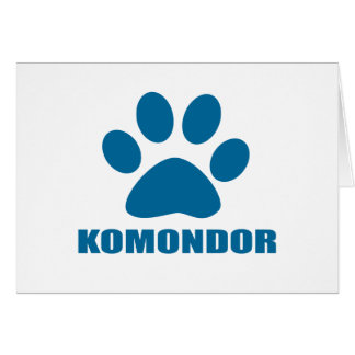 KOMONDOR DOG DESIGNS CARD