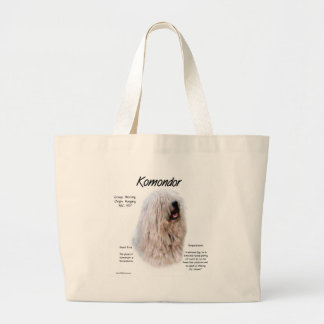 Komondor History Design Large Tote Bag