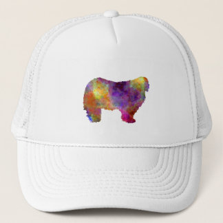 Komondor in watercolor trucker hat