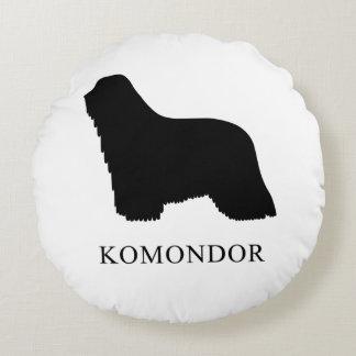 Komondor Round Pillow