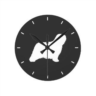 Komondor Silhouette Round Clock