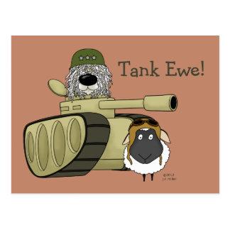 Komondor - Tank Ewe Postcard