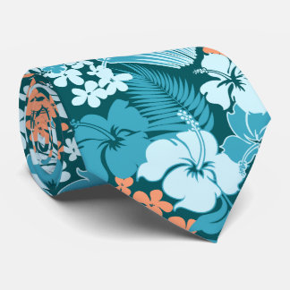 Kona Bay Hawaiian Hibiscus Two-sided Printed Tie