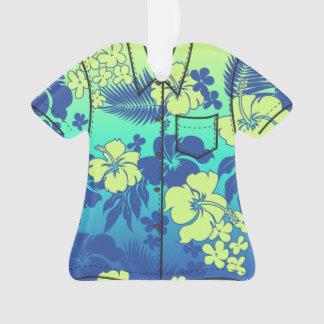 Kona Blend Hawaiian Hibiscus Flora Aloha Shirt Ornament