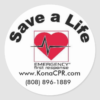 Kona CPR's Save a Life Sticker