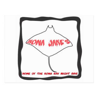 Kona Jake's Manta Ray Dive Post Card