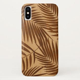 Kona Palms Hawaiian Leaf Faux Wood iPhone X Case
