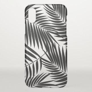 Kona Palms Hawaiian Leaf Tropical Black iPhone X Case