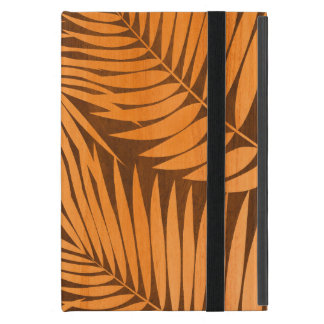 Kona Palms Hawaiian Leaf Tropical Faux Wood Cover For iPad Mini