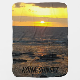 Kona Sunset Baby Blanket