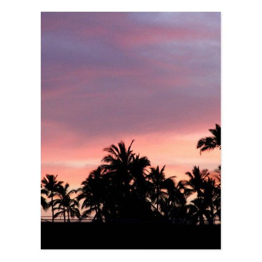 Kona Sunset Postcard