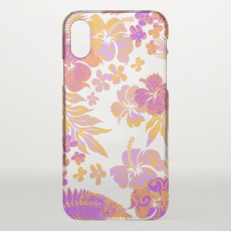 Kona Times Hibiscus Hawaiian Engineered Papaya iPhone X Case