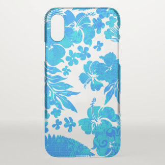 Kona Times Hibiscus Hawaiian Engineered Turq iPhone X Case