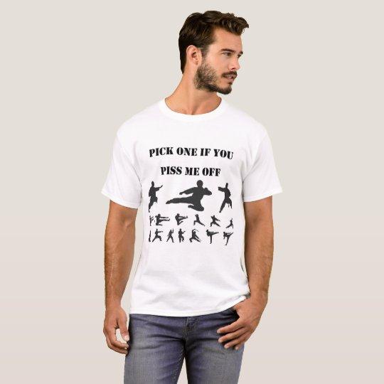 Kongfu Martial Silhouette Black T-Shirt