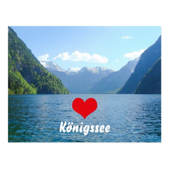 Königssee Lake in Bavaria, Germany Postcard