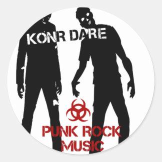 Konr Dare Classic Round Sticker