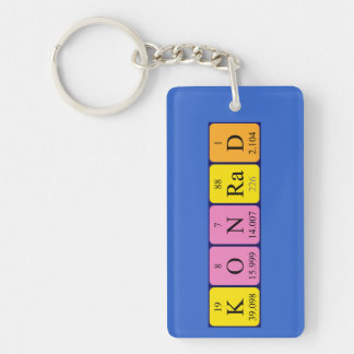 Konrad periodic table name keyring Single-Sided rectangular acrylic keychain
