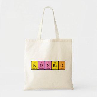 Konrad periodic table name tote bag