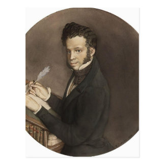 Konstantin Somov- Alexander Pushkin at Work Postcard