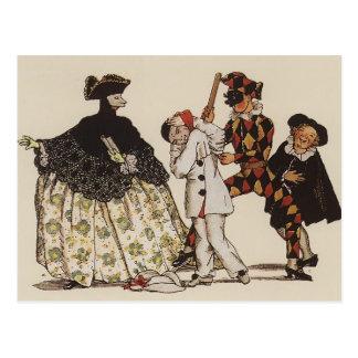 Konstantin Somov: Book of Marquise. Illustration 5 Postcard