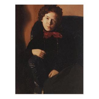 Konstantin Somov- Portrait of Anna Lebedeva Postcard