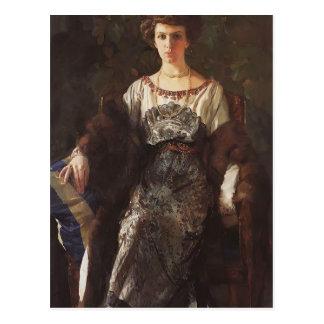 Konstantin Somov- Portrait of Ewfimia Nosova Postcard