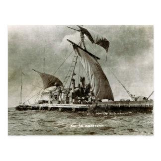 Kontiki Expedition, Thor Heyerdahl, 1947 Postcard