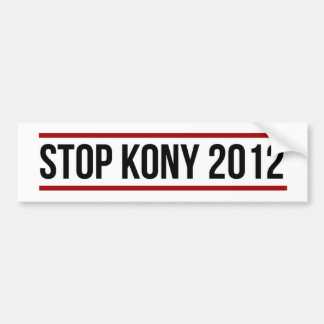 Kony Bumper Sticker