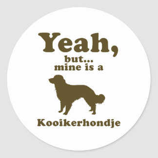 Kooikerhondje Classic Round Sticker