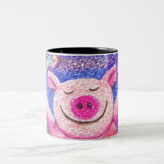 Kook Art Joyful Pig Standard Size Mug