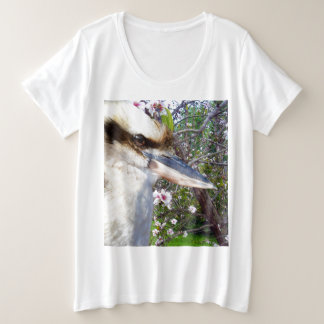 Kookaburra Beside A Blossom Tree, Plus Size T-Shirt