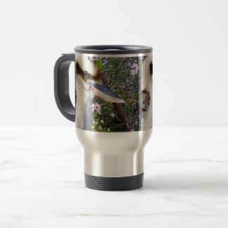 Kookaburra Beside Blossom Tree, Travel Mug