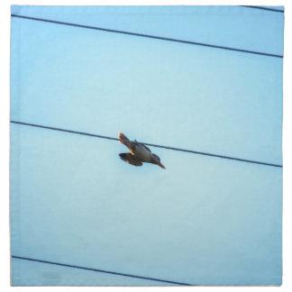 KOOKABURRA IN FLIGHT QUEENSLAND AUSTRALIA PRINTED NAPKIN