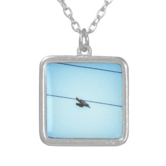 KOOKABURRA IN FLIGHT QUEENSLAND AUSTRALIA SILVER PLATED NECKLACE