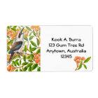 Kookaburra in Gum Tree Label