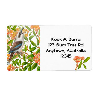 Kookaburra in Gum Tree Label Shipping Label