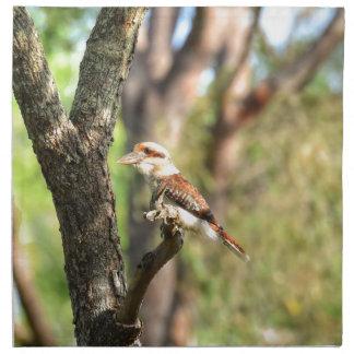 KOOKABURRA IN TREE QUEENSLAND AUSTRALIA NAPKIN