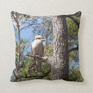 Kookaburra in tree throw pillow