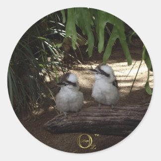 Kookaburras Laughing Classic Round Sticker
