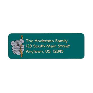 Kooky Koala Cartoon Return Address Label