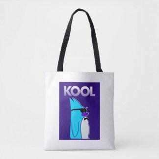 KOOL Penguin™ Brand White All Over Totebag Tote Bag
