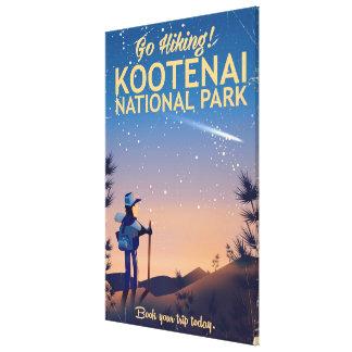 Kootenai National park Hiking travel poster Canvas Print