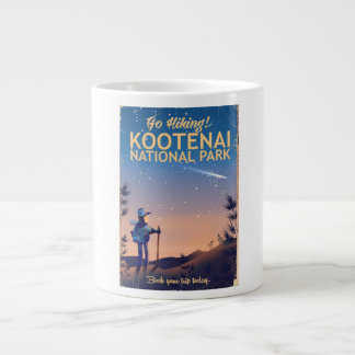 Kootenai National park Hiking travel poster Large Coffee Mug