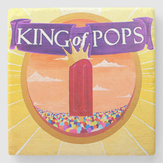 KOP Atlanta, King Of Pops Marble Coaster