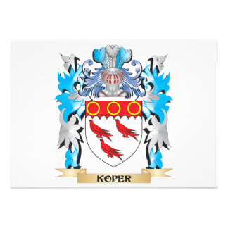 Koper Coat of Arms - Family Crest Custom Announcement