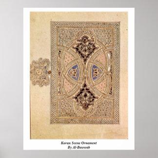 Koran Scene Ornament By Al-Bawwab Poster