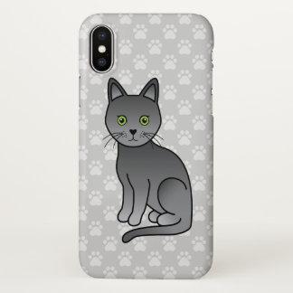 Korat Breed Cat Cute Cartoon Illustration iPhone X Case