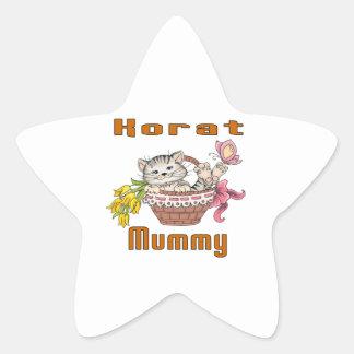 Korat Cat Mom Star Sticker